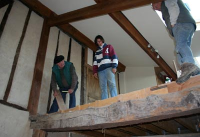 preparing the balustrade