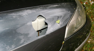 hail damage to the cars