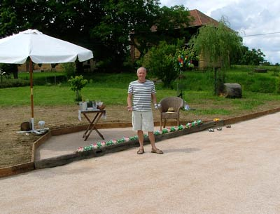 the finished boules court