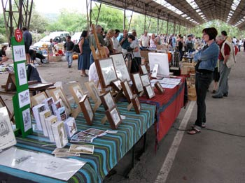 perry's stand at the vide grenier in Trie-sur-baise