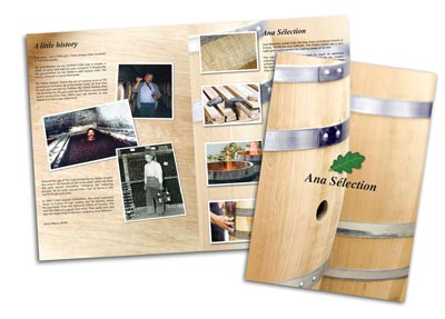 ana selection wine barrel brochure